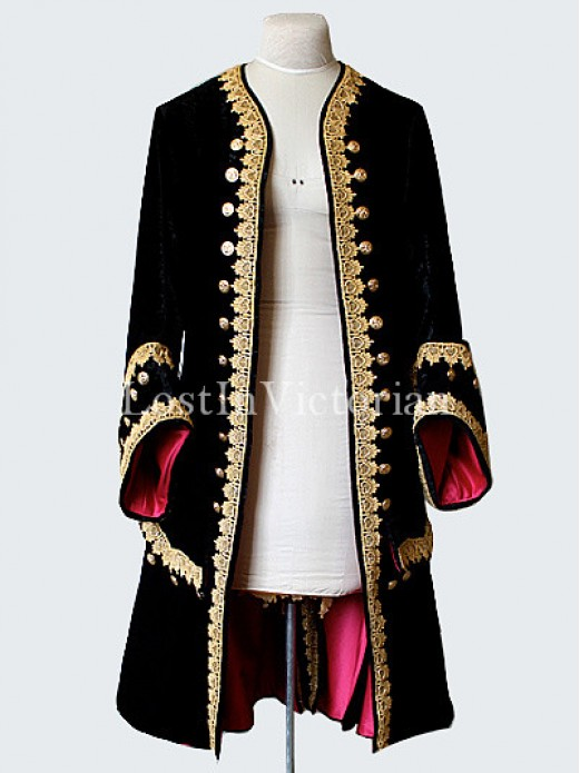 18th Century Baroque Style Gentlemans Frock Coat