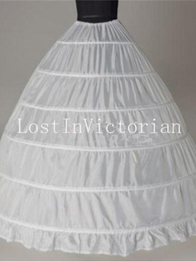 6 Layer Hoop Skirt Huge Crinoline Long Pannier