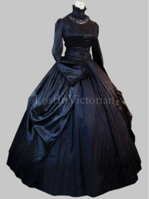 Historical Gothic Victorian Inspired Dress Ladies Halloween Costume ...