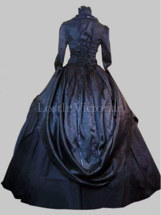 historical gothic victorian inspired dress ladies halloween costume theatre gown