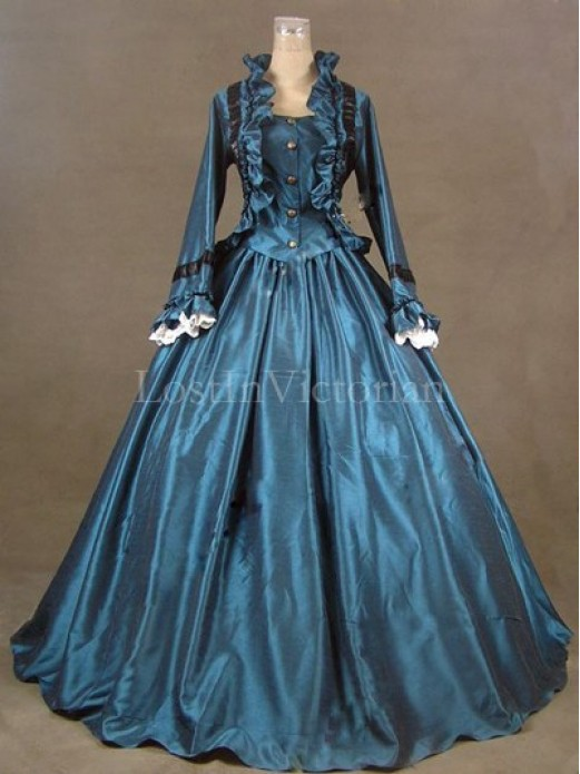 Historical 19th Century Victorian Civil War Period Dress