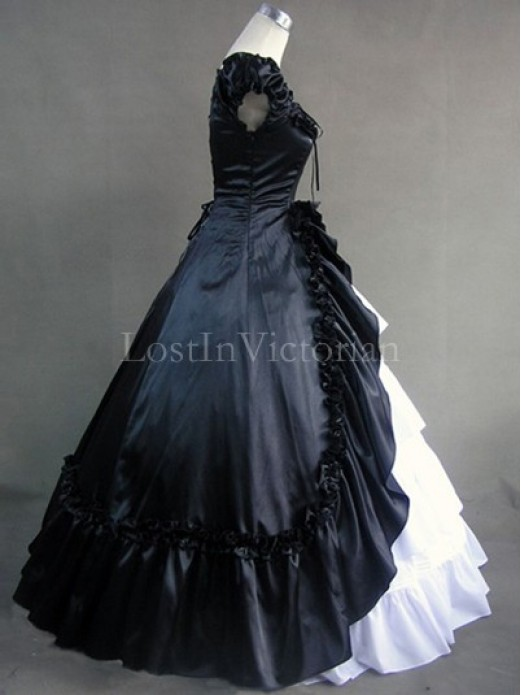 black victorian ball gown - photo #11
