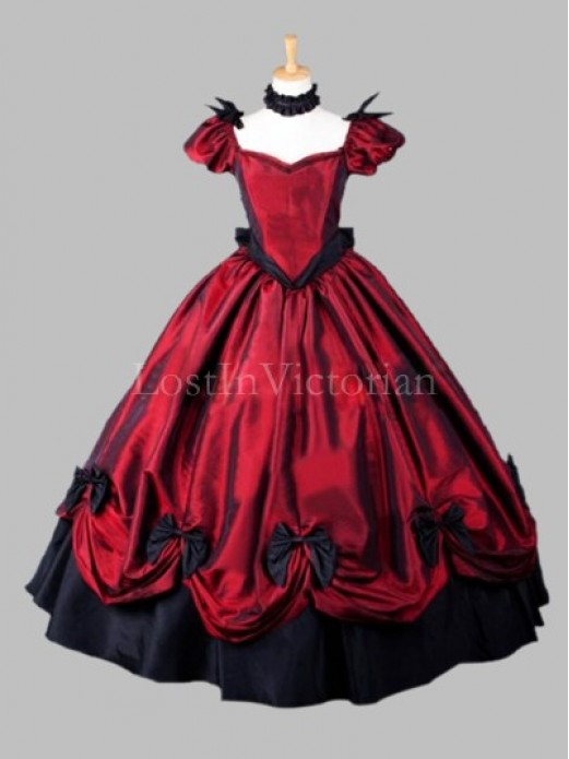 & Gothic Victorian Southern Belle Dress Halloween Costume