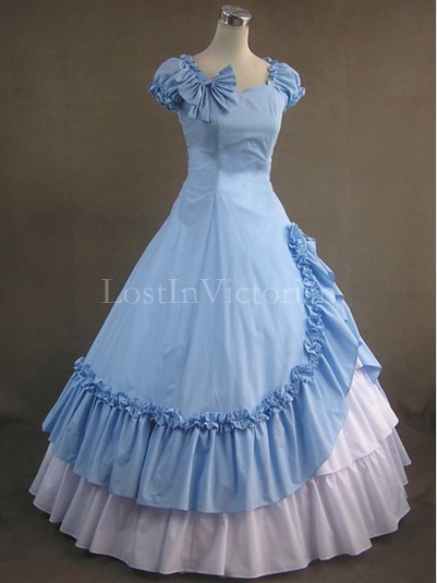 19th Century Victorian Civil War Period Dress Southern Belle Vintage Wedding Bridesmaid Dress