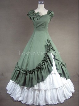 Southern Belle Victorian Civil War Period Dress Vintage Wedding Bridesmaid Dress