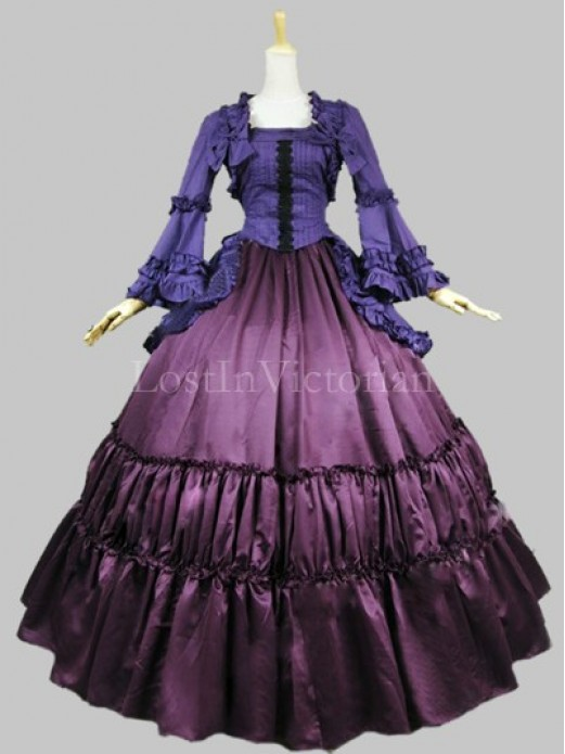 Historical 19th Century Victorian Civil War Inspired Dress