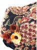 Retro Jacquard Embroidery Victorian Bonnet with Flowers